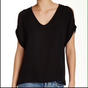 Lush cold shoulder blouse